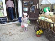 Eine kleine Dame beim grossen Einkauf